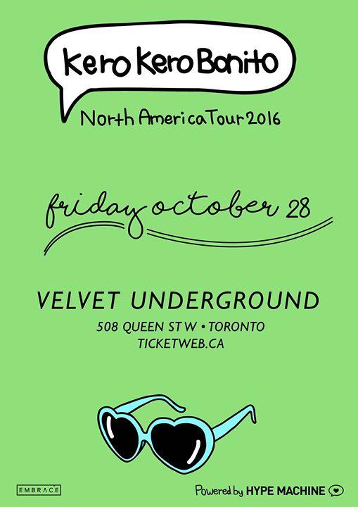 Kero Kero Bonito at Velvet Underground | October 28