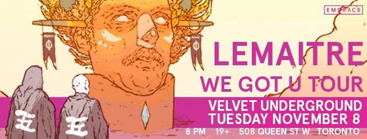 Lemaitre at Velvet Underground | November 8