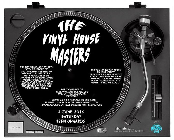 Vinyl House Masters at Mambo Beach Club [04th June]